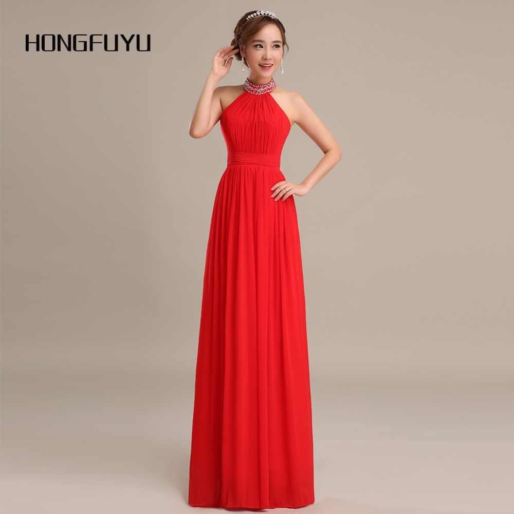 d6e61fbe2d1 Новое красное платье для выпускного вечера es A Line Halter без рукавов  длинное платье для выпускного