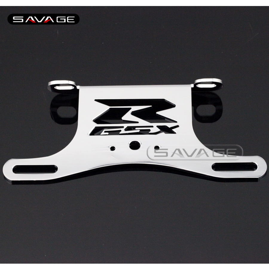 For SUZUKI GSXR GSX-R 600/750 2006-2013 Chrome Motorcycle Fender Eliminator Registration License Plate Holder Bracket for suzuki gsx r600 k6 2006 2007 fender eliminator tail tidy holder motorcycle license plate bracket for suzuki gsxr750 k6