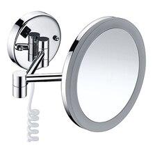 Зеркало с LED-подсветкой WasserKRAFT K-1004 (3-х кратное увеличение, металл, хромоникелевое покрытие)