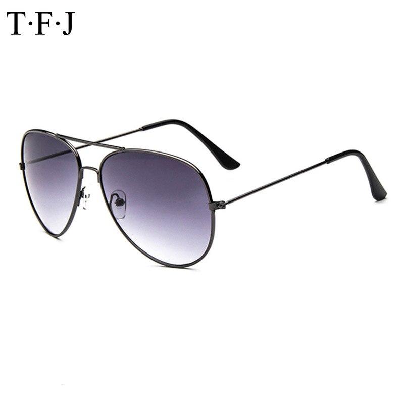 8efd583a2ff56 Tfj 2016 new moda óculos de aviador clássico dos homens das mulheres do  vintage de prata espelhado óculos de lente marrom ouro preto óculos de sol  uv 400