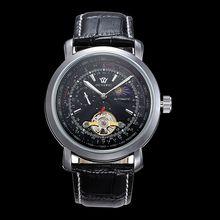 2016 Мода Luxury Brand Мужчины Wacth Tourbillon Hollow MoonClock Календарь Автоматические Механические Мужские Часы С Оригинальным Подарочной Коробке