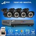 Venda quente! 4CH 1800TVL 1080N HDMI DVR Sistema de Segurança & 720 P HD Ao Ar Livre À Prova de Intempéries CCTV Câmera De Vídeo Em Casa E-mail de Alarme de vigilância