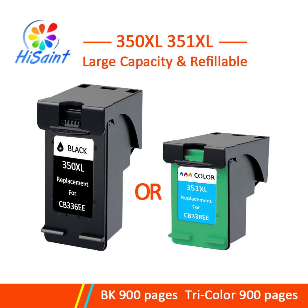 Hisaint Replacement 350 351 for <font><b>HP</b></font> 350XL <font><b>351XL</b></font> for <font><b>HP</b></font> D4200 D4260 D4263 D4360 J5730 5780 5785 C4380 4480 image