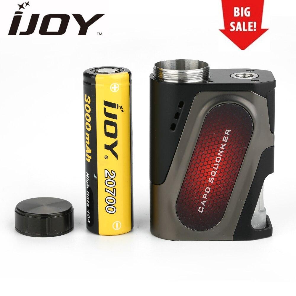 Liquidation d'origine IJOY CAPO 20700 Squonker MOD avec 20700 Batterie 3000 mAh 100 W Squonk BOÎTE MOD E Cigarette Match COMBO RDA Réservoir