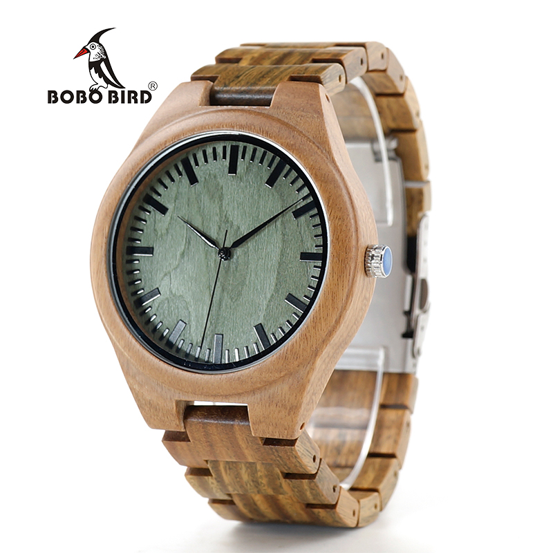 все цены на BOBO BIRD V-G19 Green Sandalwood Wood Men's Wristwatch Japan Movement Quartz Watch Classic Folding Clasp horloges mannen