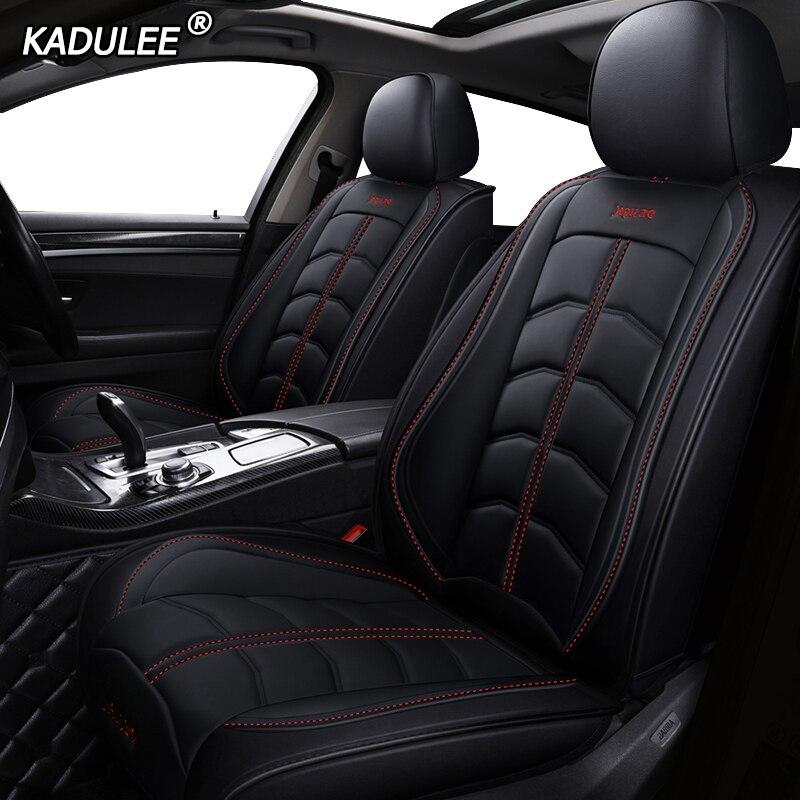 KADULEE luxury leather car seat cover for Volkswagen passat vw polo golf tiguan jetta touareg Sharan
