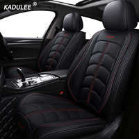 Kadulee luxo couro capa de assento do carro para volkswagen passat vw polo golf tiguan jetta touareg sharan up phaeton acessórios automóveis