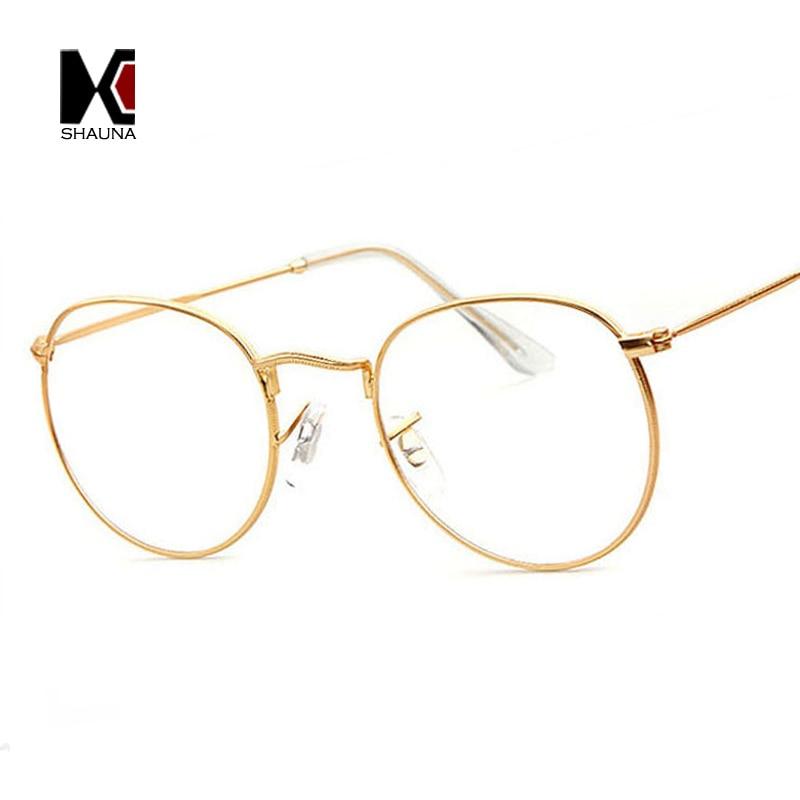SHAUNA Super Light-weight Vintage Round Frame Original Clear Lens Glasses Retro Circling Frame Women Eyeglasses Men Oculos