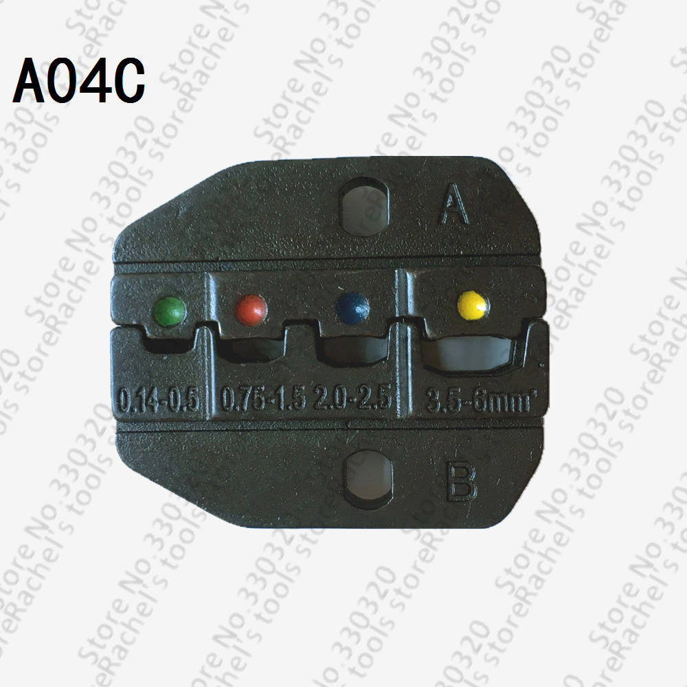 Vornehm A04c Crimpbacken Set Für Isolierte Anschlussklemmen Und Schrumpfstoßverbinder Draht-anschlüsse Crimpen Backen Schrecklicher Wert Handwerkzeuge Zangen