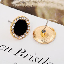 new arrives black crystal earrings female sunflowers Free Shipping black crystablack crysta 4CED153
