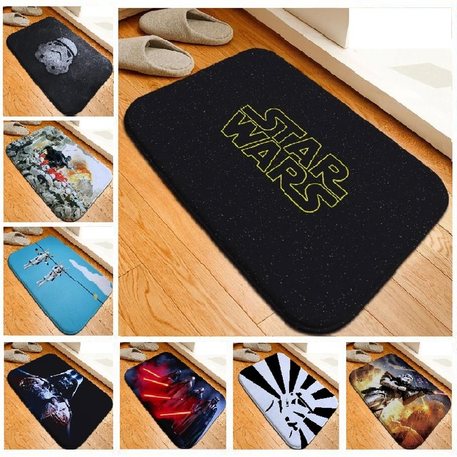 Custom Bath Mat Star Wars Diy Printed Floor Mat Toilet Carpet Flannel Absorbent Shower Bathroom Mat Rugs tapete para banheiro