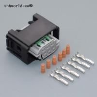 Shhworldsea 1 pces 6 pino 0.6mm carro pedal do acelerador plug 1 967616 1 7m0 973 119 para benz bmw válvula de acelerador sensor conector plug Cabos  adaptadores e soquetes Automóveis e motos -
