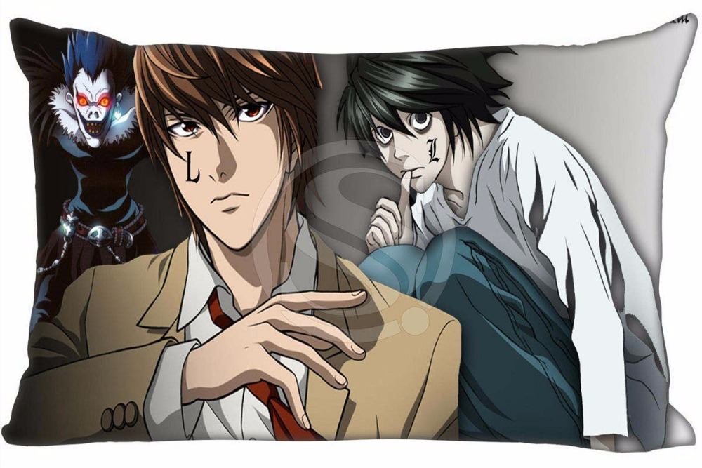 Hot Sale Death Note Anime #9 Pillowcase Custom Zippered Rectangle Pillow Cover Cases Size 40x60cm (Two sides) WT#905&A11