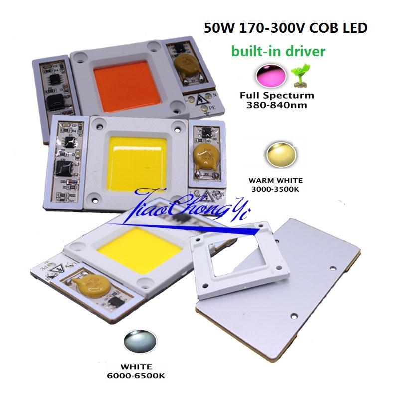 50 Вт 220vac 170-265vac высокое Мощность светодиодный чип встроенный в драйвера теплый б ...