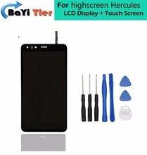 100% Para highscreen Hércules Sensor + Herramientas Reemplazo Digitalizador de pantalla LCD táctil Para highscreen Smartphone Hércules