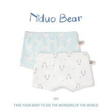 Niduo Bear 2 Pcs/lot Cartoon Boys Underwear Soft Breathable Kids Boxer for 5-12Yrs Baby Panties Kawaii Boy Briefs Underpants