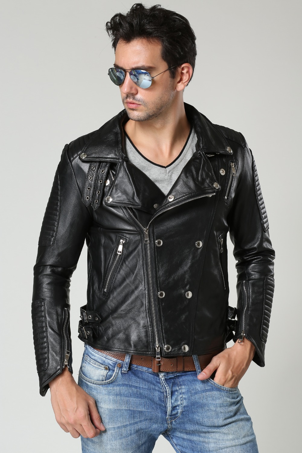 shearling leather coat page 1 - sport