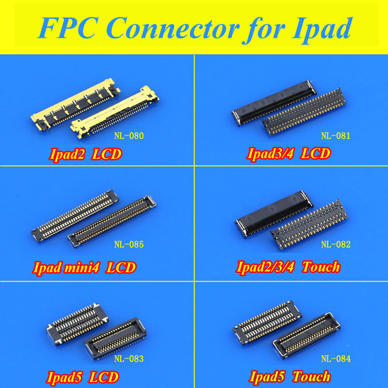 10pcs Lcd Display Screen Fpc Connector For Ipad 5 2017 Air Ipad5 A1474 A1475 A1476 A1822 A1823 Logic On The Motherboard Mobile Phone Parts