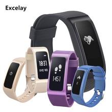 Excelay Смарт-часы DB04 сердечного ритма Приборы для измерения артериального давления сна Мониторы смартфон SMS напоминание браслет Фитнес следить браслет