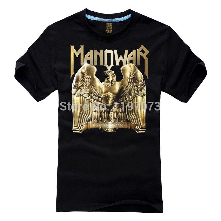 Freies verschiffen Schlacht Hymnen MMXI-Manowar abdeckung Heavy metal/Power metall männer schwarz T-Shirt...