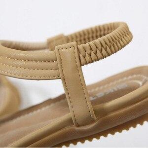Image 3 - Timetang 夏新ボヘミア女性サンダルラインストーン女性フリップヴィンテージ女性靴ビーチ