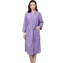 f6d8a5eb97 Women Bride Wedding Robes Chinese Spa Home Dress Cotton Solid Kimono  Sleepwear Nightgown Nightwear Sexy Dressing