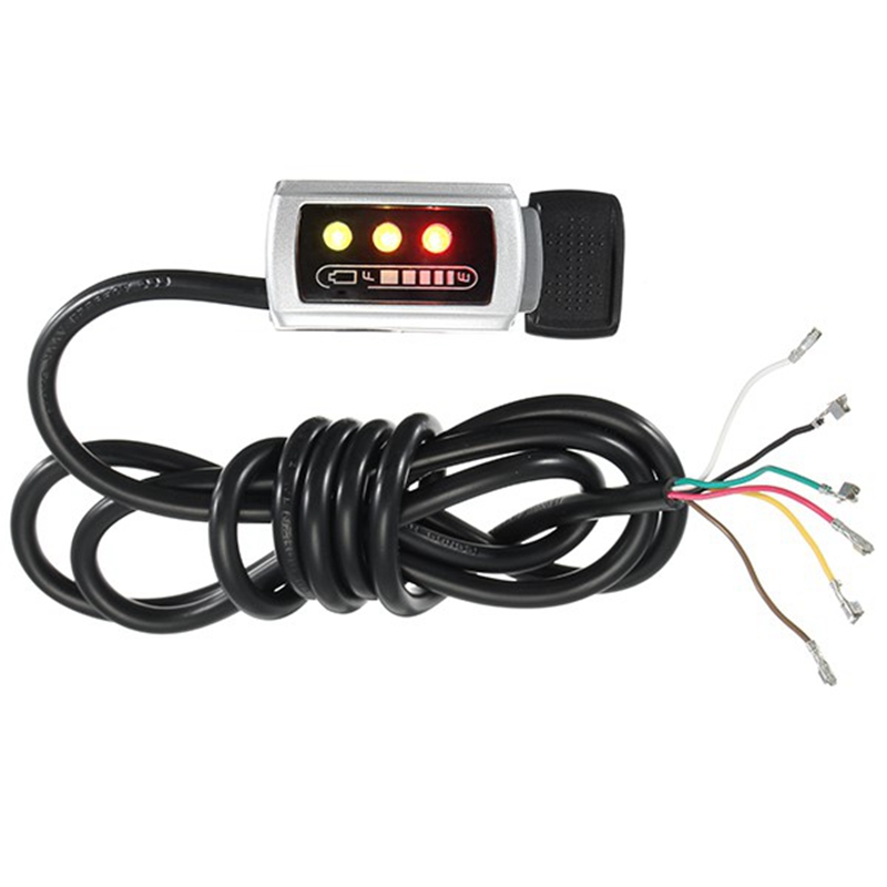7/8 Electric Bike Handlebar Speed Battery Indicator Thumb Throttle With Self Lock for 36V / 48V Motor Frames & Fittings