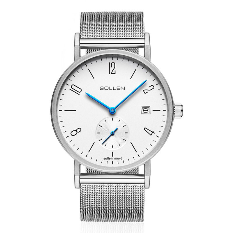 SOLLEN SL9045 watches men luxury brand Germany Bauhaus Milan stainless steel strap male waterproof leisure business quartz watch bauhaus