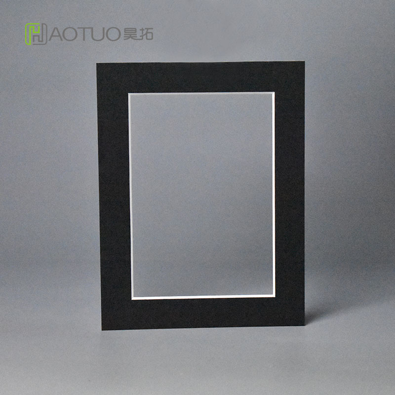 HT 1.5mm Thick Black Cardboard Photo Frame Fit 4x6
