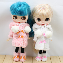 Blyth кукольный костюм для icy licca зимний костюм с туфлями и черными чулками