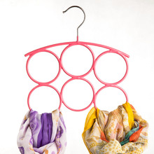 Belt Holder Ring Circles Collapsible Scarf Hanger Closet Clothes Organizer For Belt Tie Hook Storage Scarf Clothing Hangers Rack