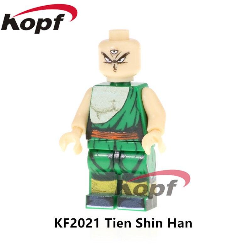 20Pcs Super Heroes Dragon Ball Z Figures Tien Shin Han Majin Buu Launch Vegeta SSJ3 Toys Building Blocks Children Gift KF2021