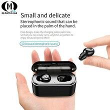TWS 5D Stereo Bluetooth Headset 5.0 Mini Twins Earbuds Wireless Charging Box 2200mAh Power Bank