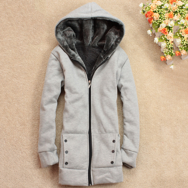 New Autumn Winter Women   Basic     Jacket   Coat Female Slim Hooded Brand Heigh Quality Cotton Blend Coats Women Cardigan Outerwear