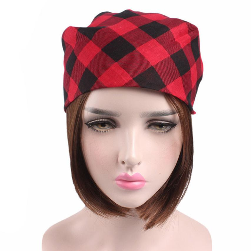 3-M Bicycle Ladies Sports Women Men Plaid Bandanas Head Wrap Turban Hair Accessories Headband