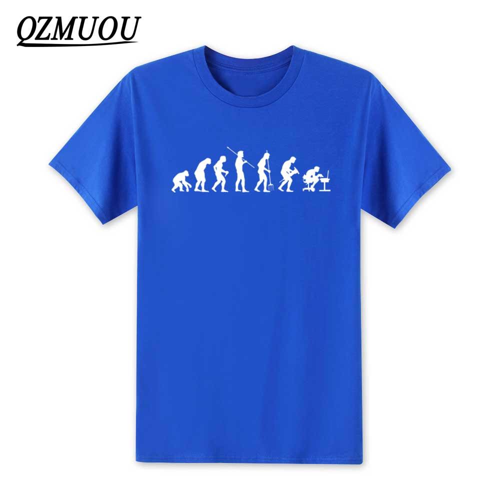 2018 The Big Bang Theory Men T Shirt New Computer Evolution Men T-shirt Summer Short Sleeve Cotton Sheldon Cooper Top Tee XS-XXL