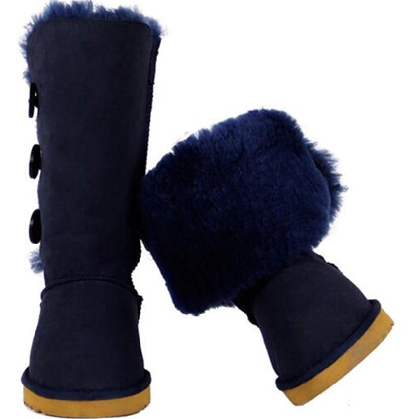 2018 Winter Boots Women Shoes Woman Australie Leather Knee Thigh High Shoes Women Snow Boots Fur Long Rain Australia Boots Women