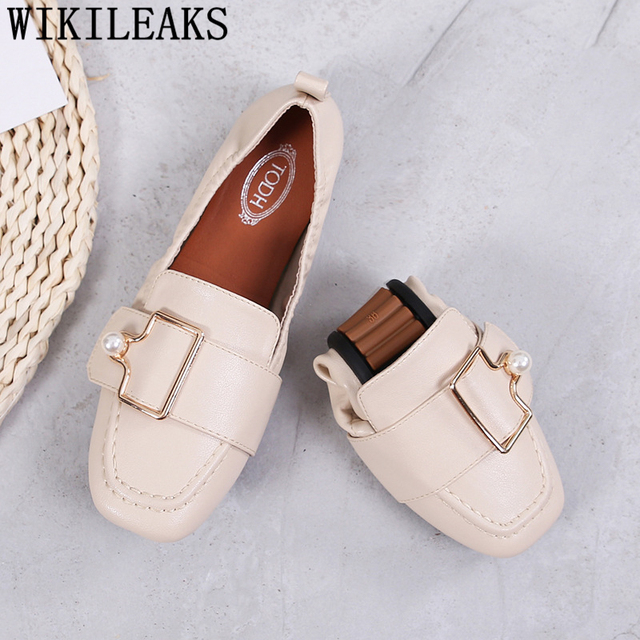 designer shoes women luxury 2018 shoes woman loafers women flats shoes+female creepers mocassin femme zapatos de mujer modis