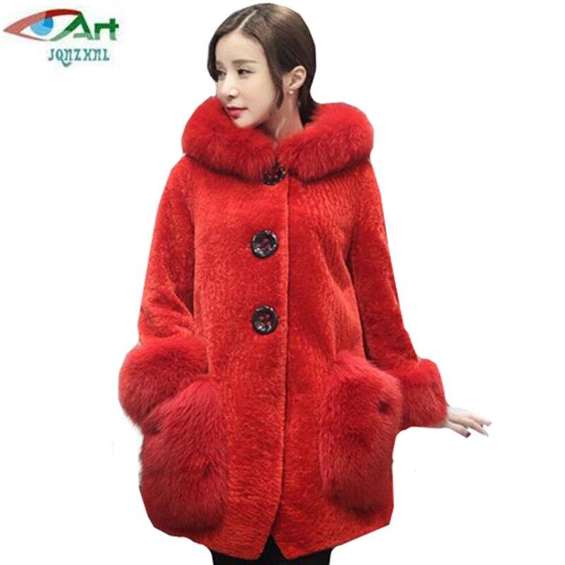 Jqnzhnl2017 otoño invierno nuevas mujeres espesar chaqueta de piel con  capucha imitación lambswol abrigo de piel moda bolsillo mujer chaqueta de  piel as375 cc587d0028b2d