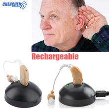 Rechargeable Hearing Aids Sound Amplifier Behind Ear Style For The Elderly Hearing Amplifier Deaf Hearing Aid new product 2016 rechargeable hearing aid electronic sound amplifier s 109 free shipping