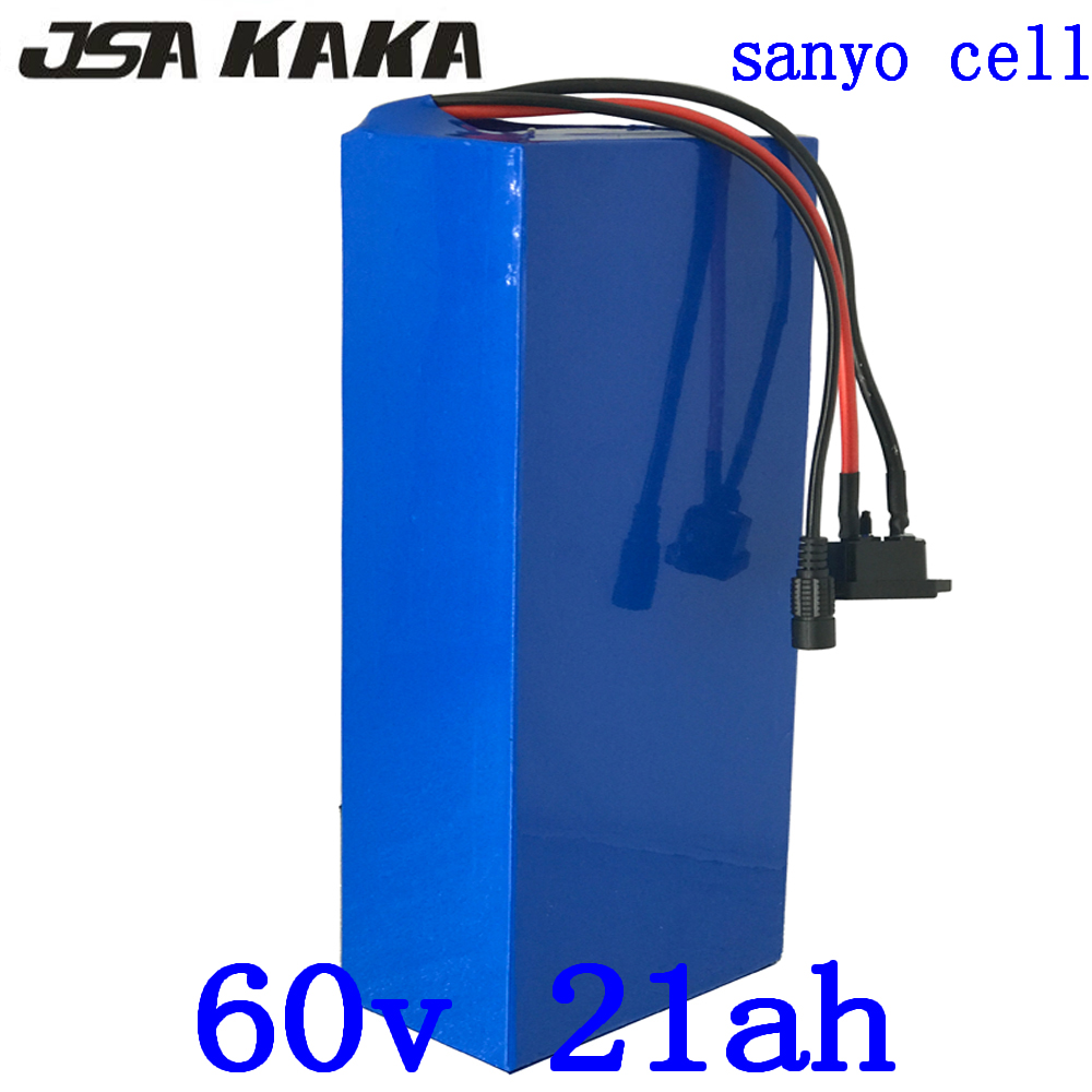 60V lithium battery 60V 20AH electric scooter battery 60V 21AH electric bike battery use sanyo cell for 60V 1500W 2000W motor