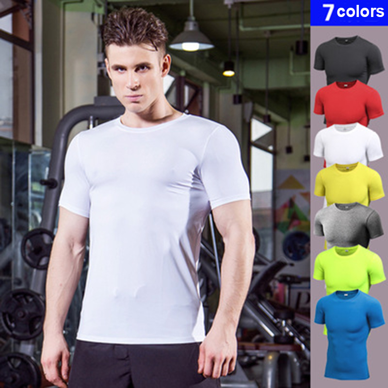 2019 Logo custom Quick Dry Compression fitness t shirt Running jersey Training clothes quick dry tops sport shirt men Gym shirt2019 Logo custom Quick Dry Compression fitness t shirt Running jersey Training clothes quick dry tops sport shirt men Gym shirt