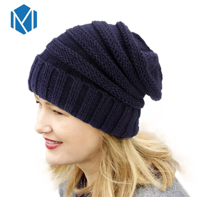 084d89d0 Miya Mona 1PC Fashion Warm Unisex Beanie Winter Hat For Women Christmas  Gift Oversized Slouchy Beanie Female Cap Knitted Cap