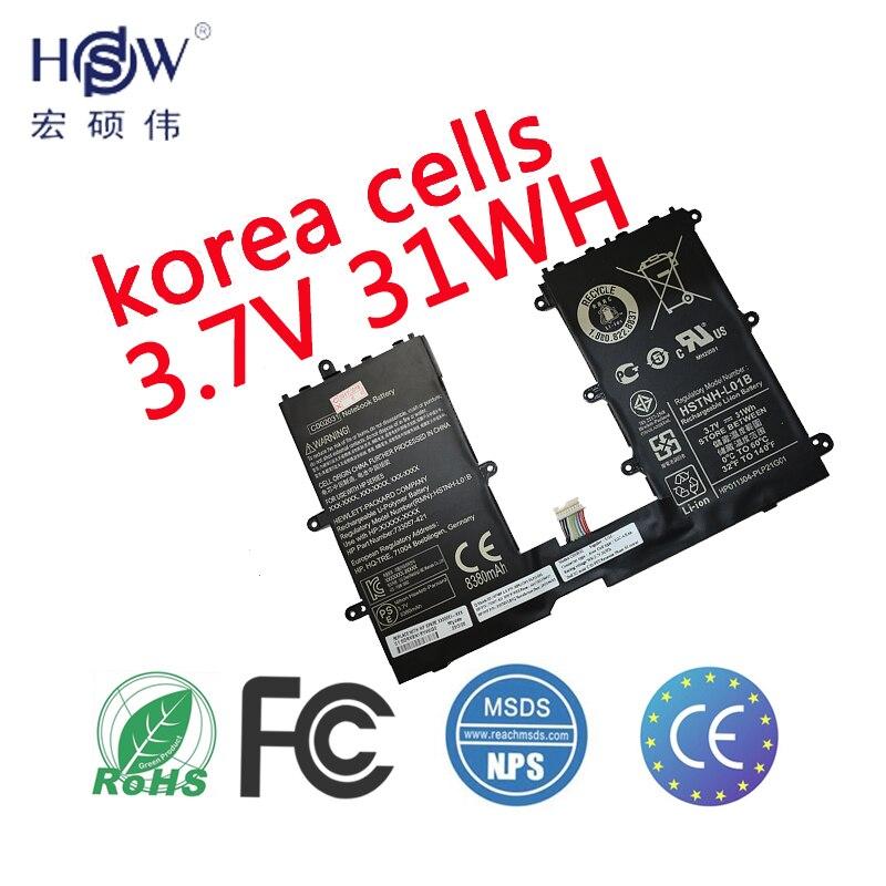 HSW Batterie D'ordinateur Portable Pour HP 740479-001 CD02031 HSTNH-L01B HQ-TRE batterie pour ordinateur portable 71004 batteries Omni 10 batterie