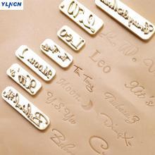 Индивидуальный дизайн кожа горячая фольга штампующий Кожа ремесло ручной работы вырезка Цифровой алфавит печать для кожи DIY Плесень