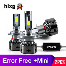 HLXG 12000Lm Canbus h7 mini led light for car motorcycle led H4 H8 H11 No Error fog light H1 HB3 9006 6000K 4300K 5000K 8000K(China)