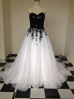 Organza A line Wedding Dress 2017 Vestidos De Novia New Bridal Dress Bling Black Top Appliques Bridal Gown