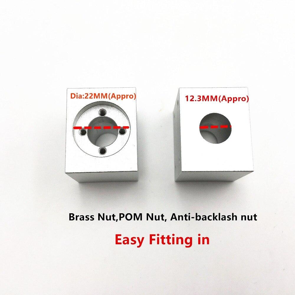 Funssor T8 Trapezoidal Lead Screw Nut Housing Bracket For DIY  3D Printer  Reprap CNC Mahine Size 35X28X30MM