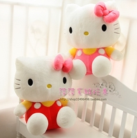 Plush toy doll Rag doll Lovely butterfly knot Hello Kitty Birthday gift for girls