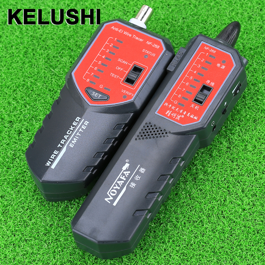 KELUSHI Multifunctional cable detector Wire Tracker NF-268 Tester Networking Tools cable tracker wrie tracker nf 806r communication cable wire tone tracker combo with carrying pouch 2 x 6f22 9v